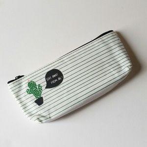 Handbags - Stay Away Cactus Make Up bag